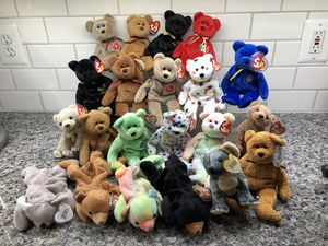 21 Beanie Baby bears. for Sale in Vienna, VA