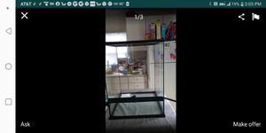 Glass reptile encosure 18 by 18 by 24 for Sale in Columbus, OH