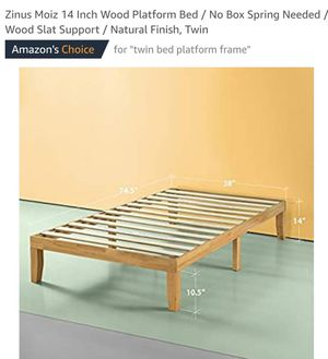 Zinus Moiz 14 Inch Wood Platform Bed Twin for Sale in OH, US