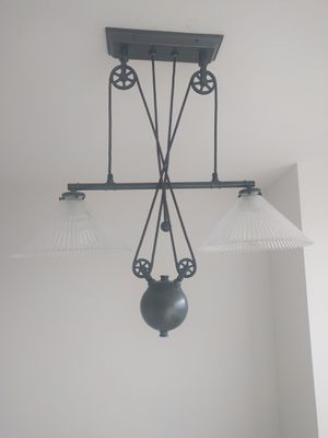 Restoration Hardware Pulley Double Pendent Light Fixture for Sale in Seattle, WA