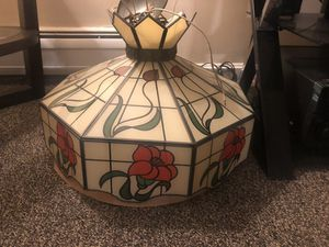 Antique glass ceiling lamp for Sale in Watertown, MA