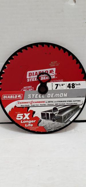 DIABLO 7-1/4 in. x 48-TPI Cermet Steel Demon Ferrous Metal Cutting Saw Blade brand new nuevo for Sale in San Bernardino, CA