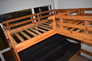 """L""- shaped bunk bed for Sale in Daly City, CA"