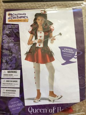 Sz L, Queen of Hearts costume for Sale in San Jose, CA
