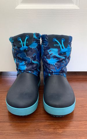 Kids c12 Crocs winter snow boots for Sale in Virginia Beach, VA