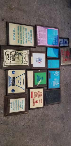 1980s old bmx plaques mike Ellis 100.00 takes em all! for Sale in Cerritos, CA