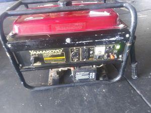 Generator works great yamakoyo peak power 3500 watts for Sale in Roseville, CA