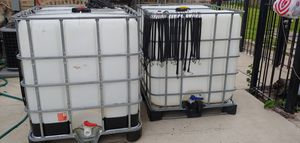 Water tank Portable water containers clean and ready one all ready has the hose attachment asking 160 for both or 80 for each pick up only for Sale in Chicago, IL