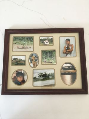 "15 1/2"" x 12 1/2"" Wood Collage Photo Frame for Sale in Redlands, CA"