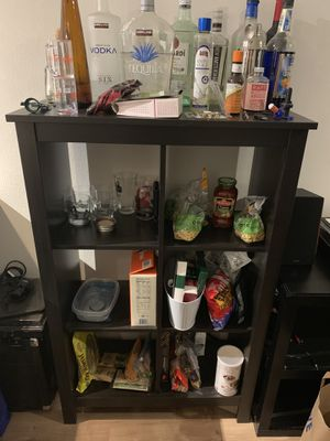 Black bookcase/pantry/shelves for Sale in Seattle, WA