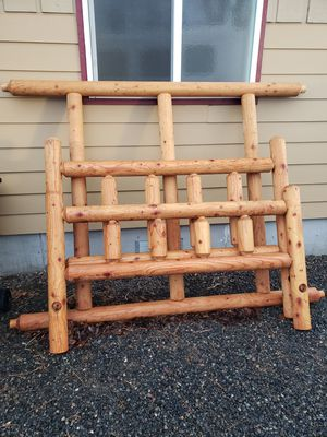 Heavy log queen bed frame for Sale in Ellensburg, WA