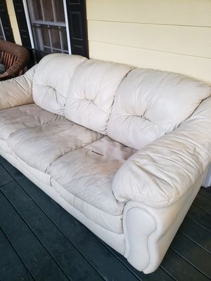 White leather couch for Sale in Austell, GA