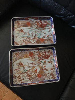 Antique pair Japanese Arita Imari plates for Sale in Lake Forest, CA