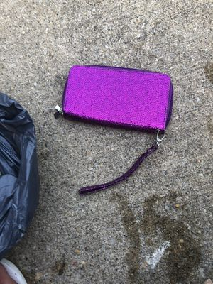 Purple sequin wallet for Sale in Parkville, MD