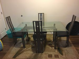 Silver Glass dining room table for Sale in Frederick, MD