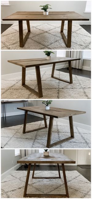 6FT x 3FT Solid Wood Rustic Modern Dining Table for Sale in Modesto, CA
