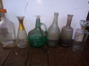 Antique glass bottles for Sale in Marietta, SC