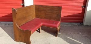 Vintage Solid Wood Highback Booth/Corner Seat for Sale in Lorain, OH