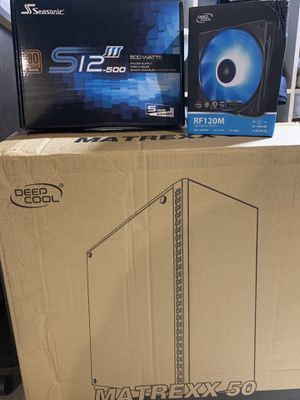 Tempered Glass Case, Power Supply, RGB Fans for Sale in Buffalo, NY