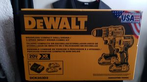 Dewalt XR Brushless compact drill/ driver/ 3- speed impact driver combo kit for Sale in Hagerstown, MD