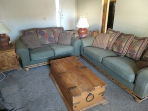 Full Living Room Set - Couch , Loveseat , End & Coffee Tables , Lamps for Sale in Chandler, AZ
