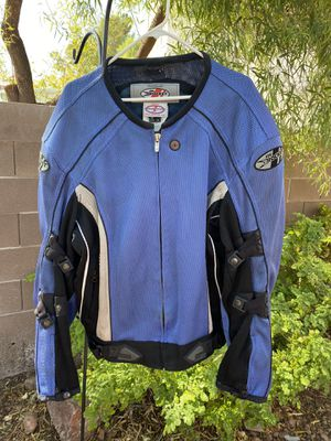 Joe Rocket Blue Motorcycle jacket good condition XL for Sale in Las Vegas, NV