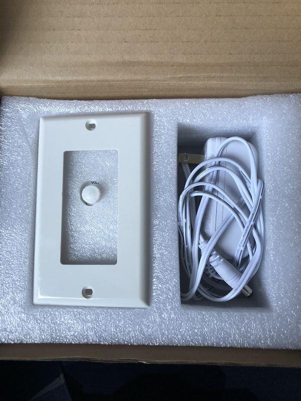 In wall wi-fi wireless audio control -Bluetooth wall plate sound Receiver with Aux Input , USB Card Reader & charge port
