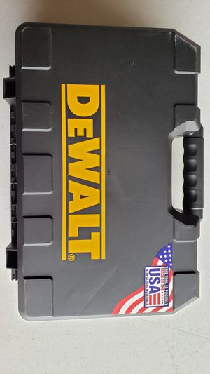New Dewalt Power Tool Case Metal Clasp Fits 2 drills, charger and 2 batteries for Sale in San Diego, CA