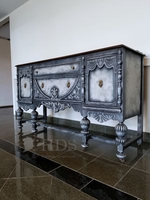 Antique Jacobean Buffet - credenza dresser sideboard entry table console for Sale in Schaumburg, IL