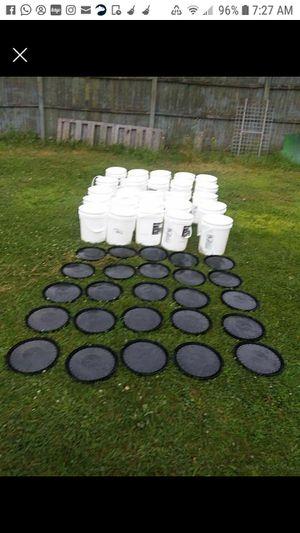 Five gallon buckets food friendly for Sale in Muskegon, MI