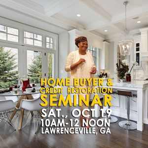 Free HomeBuyer & Credit Seminar for Sale in Stone Mountain, GA