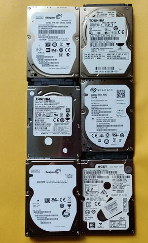 "Laptop 2.5"" 320GB 500GB 1.5TB HDDs Lot of 12 hard drives Seagate Toshiba for Sale in Buffalo Grove, IL"