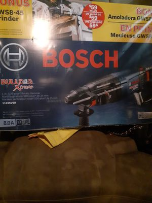 Bosch 8amp rotary hammer drill/ n bonus Bosch grinder for Sale in Erial, NJ