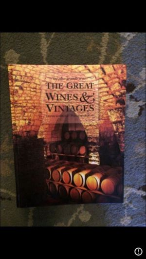 The Great Wines and Vintages Book for Sale in Milnesville, PA