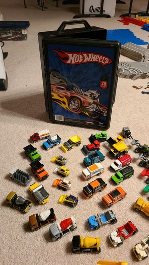 Hot Wheels case with 43 construction toy vehicles for Sale in Beaverton, OR
