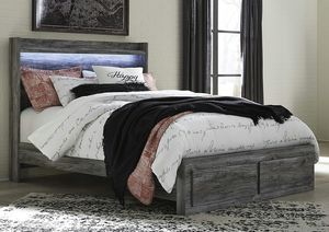 Ashley Furniture Gray Queen Size Bed Frame with 2 Drawers for Sale in Santa Ana, CA