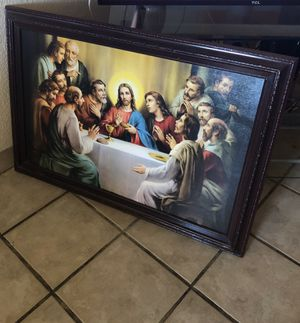 """Framed the Last supper in guc size 39"""" by 27"""" for Sale in Fontana, CA"""