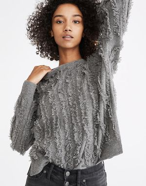 Madewell fringe striped pullover sweater xxs for Sale in Lacey, WA