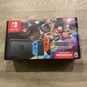 Nintendo Switch Joy-Con Neon Blue/Red + Mario Kart 8 Deluxe + 3 Month Online Bundle for Sale in Los Angeles, CA