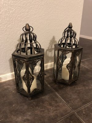 2 Lanterns with candles for Sale in Phoenix, AZ