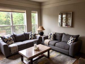 Gray sofa and loveseat, like new for Sale in Houston, TX