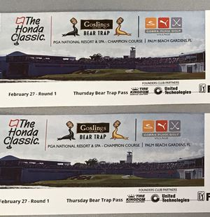 Honda Classic - 2 Bear Trap Tickets for Thursday for Sale in Riviera Beach, FL