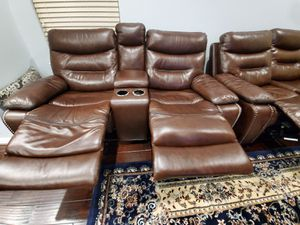 Leather Couch Sectional for Sale in Houston, TX