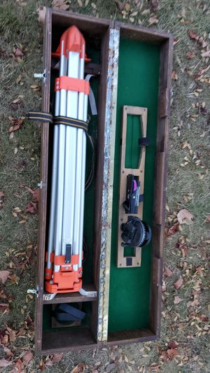 Surveying stand and equipment with wood box for Sale in Manchester, CT