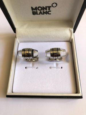 New Montblanc Silver Coated / Glass Cufflinks for Sale in Los Angeles, CA