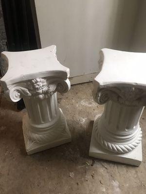 White Pedestals concrete -2 for Sale in Lowell, MA