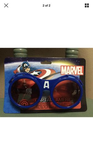 Marvel The Avengers CAPTAIN AMERICA GOGGLES patriotic superhero costume glasses for Sale in Portland, OR