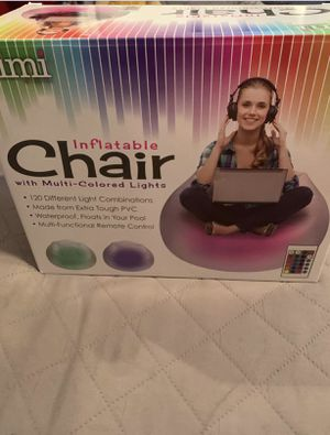 Inflatable light up chair for kids for Sale in Nashville, TN