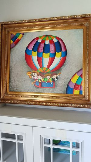 HOT AIR Balloon ARTWORK FRAMED Parasail for Sale in New Port Richey, FL