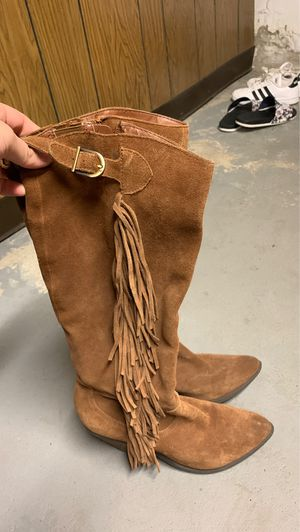 Carlos Santa fringe boots Size 9 for Sale in Medford, MA